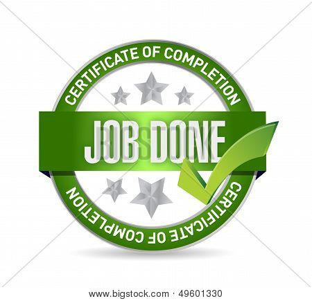 Job Done Seal Illustration Design