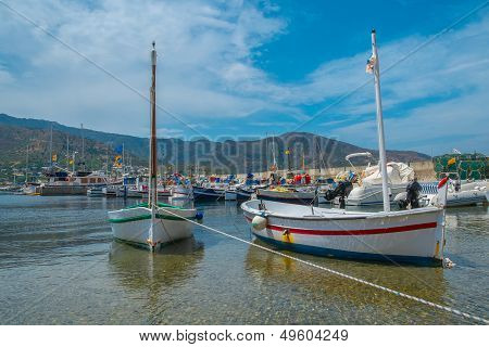 Two boats in the port town