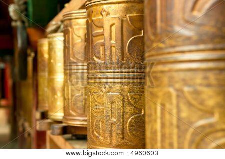 Tibetan Prayer Wheels In Songzanlin Tibetan Monastery, Shangri-la, China