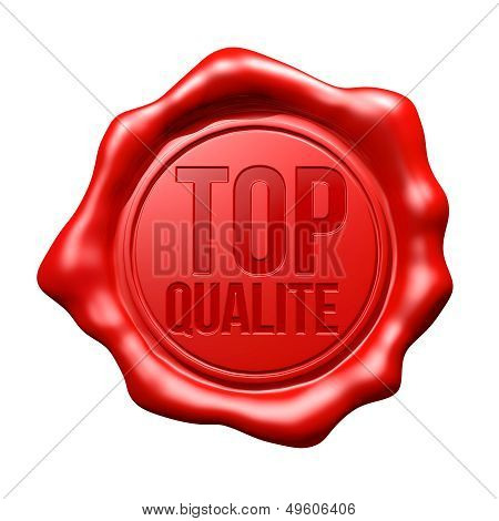 Red Wax Seal : Top Qualite
