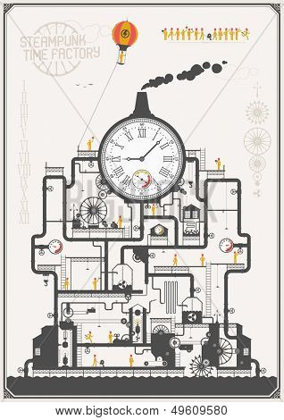 Steam punk style - time factory