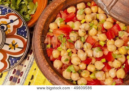 Chickpeas And Tomato Salad