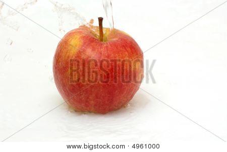 Fresh An Apple In Water.
