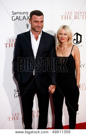 "NEW YORK-AUG 5: Actors Liev Schreiber and Naomi Watts  attend the premiere of Lee Daniels' ""The Butler"" at the Ziegfeld Theatre on August 5, 2013 in New York City."