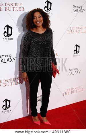 NEW YORK-AUG 5: Supermodel Grace Hightower attends the premiere of Lee Daniels'