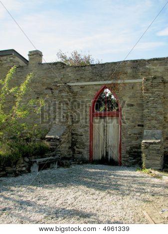 Red Door Entrance