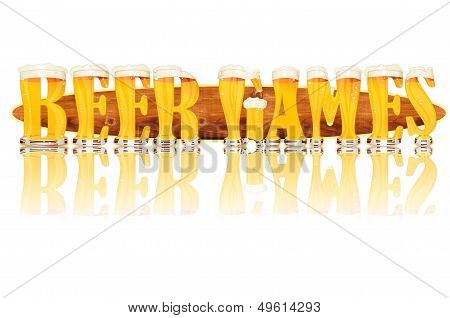 BEER ALPHABET letters BEER GAMES