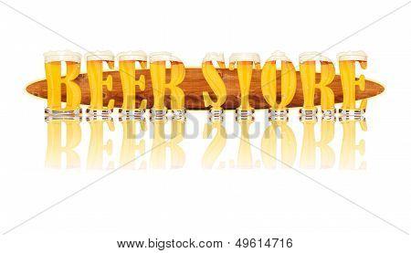 BEER ALPHABET letters BEER STORE