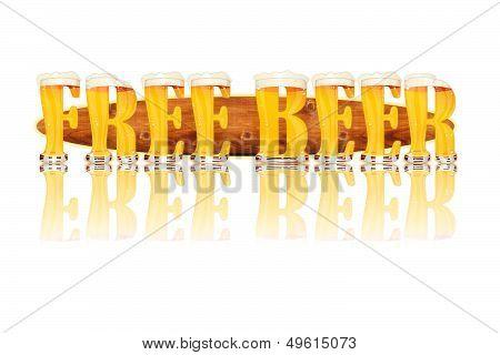 BEER ALPHABET letters FREE BEER