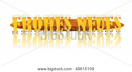 BEER ALPHABET letters FROHES NEUES
