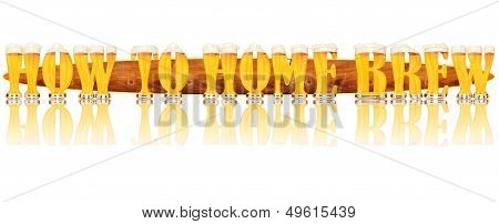 BEER ALPHABET letters HOW TO HOME BREW