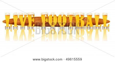 BEER ALPHABET letters LIVE FOOTBALL