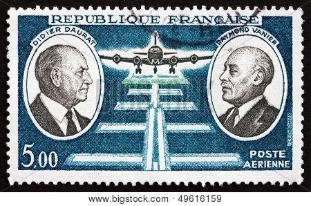 Postage Stamp France 1971 Daurat And Vanier, Aviation Pioneers