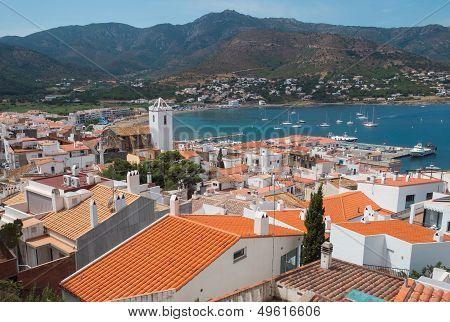 Port De La Selva View Of The Town In The Mediterranean Sea.