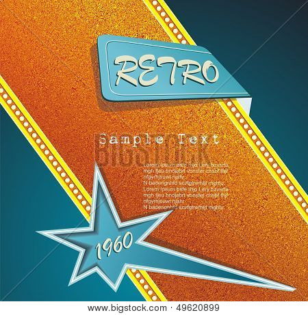 Retro Motel Sign. Vector