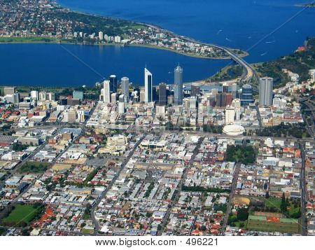 poster of Perth City Aerial View 4