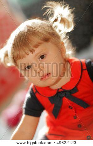 Portrait of a little baby girl
