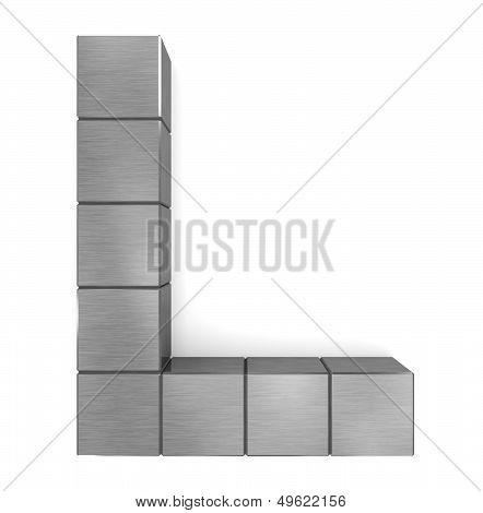 Letter L Cubic Metal