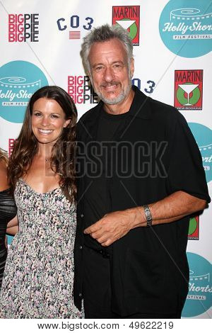 LOS ANGELES - AUG 15:  Melissa Claire Egan, John de Lancie at the 9th Annual HollyShorts Film Festival Opening Night at the TCL Chinese 6 Theaters on August 15, 2013 in Los Angeles, CA