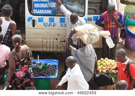 Bus Passengers Enter Mini-bus