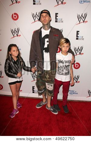 LOS ANGELES - AUG 15:  Travis Barker at the Superstars for Hope honoring Make-A-Wish at the Beverly Hills Hotel on August 15, 2013 in Beverly Hills, CA