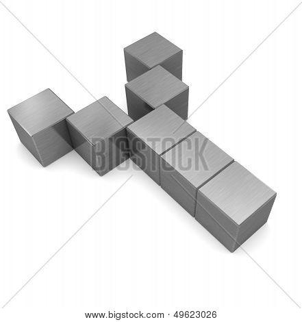 Letter Y Cubic Metal