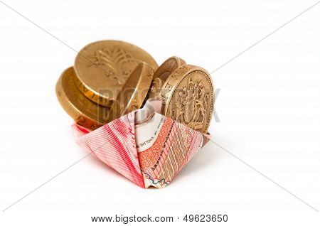Money boat Safety security and rescue conceptual image