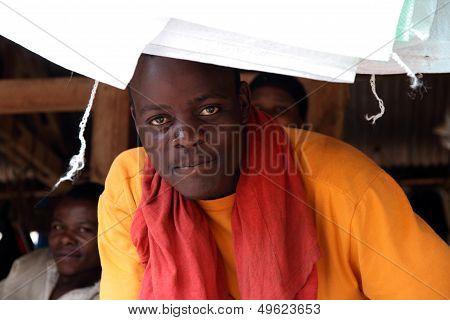 Ugandan Market Vendor Portrait