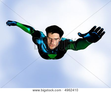 Male Superhero Flying