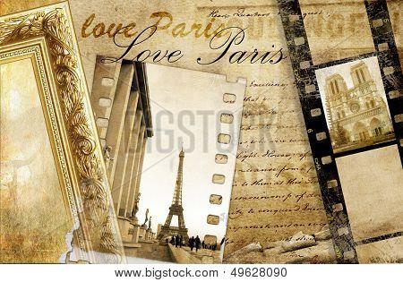 memories about Paris - artistic clip-art