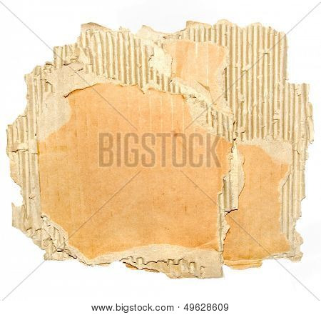 tattered paperboard texture