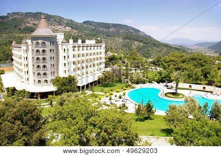 beautiful castle-resort in mountains