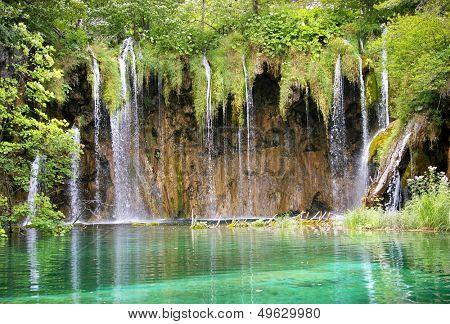 beautiful turquoise waterfall
