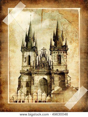 old Prague (vintage photoalbum series)