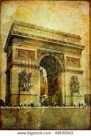 arc de triumph- vintage card (from my Parisian vintage series)
