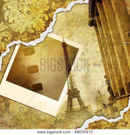 Parisian memories - retro photoalbum
