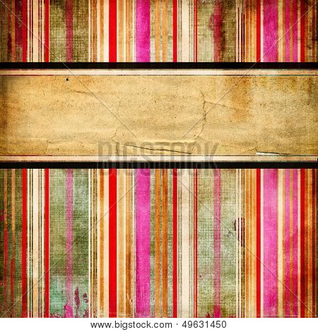 vintage striped background with place for text