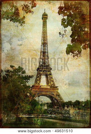 heart of Paris - vintage card