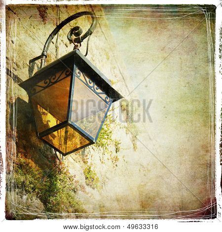 old lantern - vintage styled picture