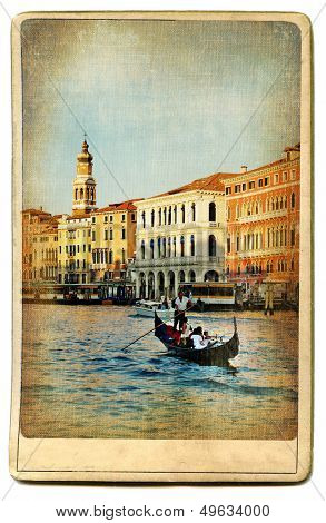 European landmarks series - vintage card- Venice