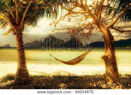 dreamy island -artistic tone picture
