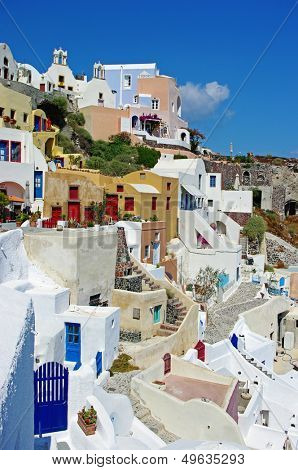 beautiful pictorial Santorini
