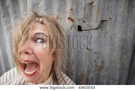 Homeless Woman Screaming
