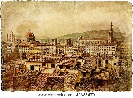 Florence - retro style picture (from my italian series)l
