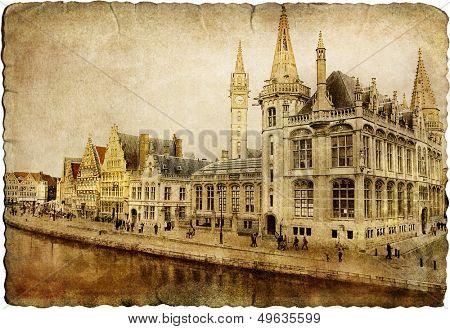 old gothic Gent - retro picture