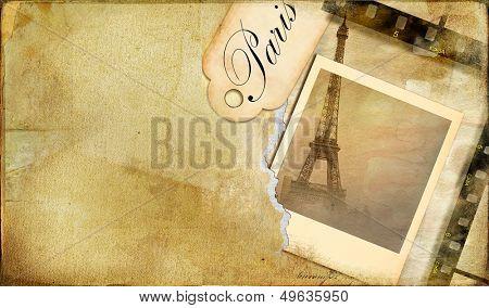 old photo-album  - vintage cards series Paris