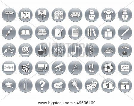 Round School Icons
