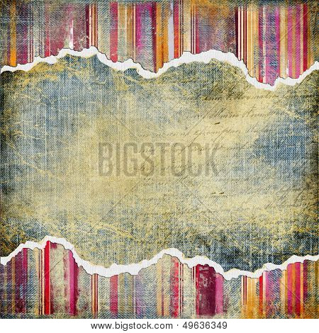 vintage denim background with place for text