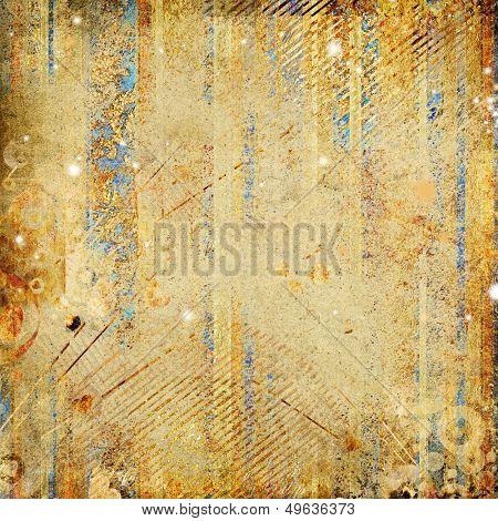 shabby golden paper