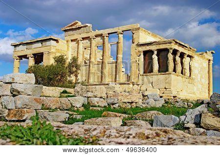 Caryatid Porch of Erechtheum at Acropolis, Athens
